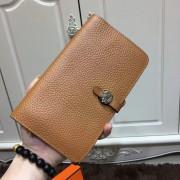 Hermes Dogon Wallet Togo Leather H001 Brown