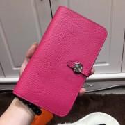 Hermes Dogon Wallet Togo Leather H001 Hot Pink