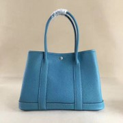 Hermes Garden Party Handbag Small 31cm Blue