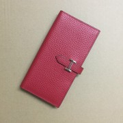 Hermes calf leather Wallet H005 red