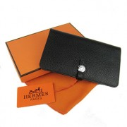 Hermes Dogon Wallet Togo Leather H001 Black