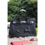 Hermes Birkin Horse Togo Leather Black 35cm
