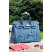 Hermes Birkin Horse Togo Leather Blue 35cm