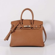 Hermes 30cm Birkin Bag Togo Leather with Strap Light Coffee Gold
