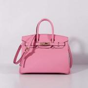 Hermes 30cm Birkin Bag Togo Leather with Strap Light Pink Gold