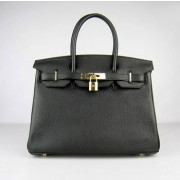 Hermes Birkin 30cm Togo leather Handbags black gold