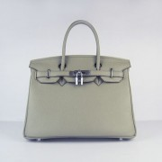 Hermes Birkin 30cm Togo leather Handbags dark grey silver