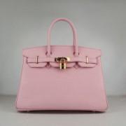 Hermes Birkin 30cm Togo leather Handbags pink golden