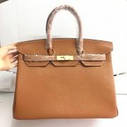 Hermes Birkin 35cm Togo leather Handbags camel gold