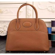 Hermes Bolide 31cm Togo Leather Brown Bag
