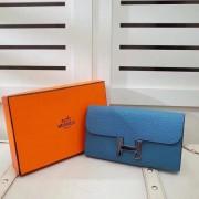 Hermes Constance Wallet Togo Leather Blue