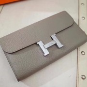 Hermes Constance Wallet Togo Leather Grey