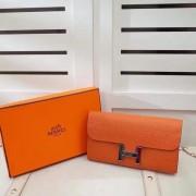 Hermes Constance Wallet Togo Leather Orange