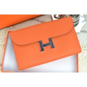 Hermes H Wallet Orange Silver