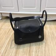 Hermes Lindy 30cm Handbag Black Silver