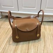 Hermes Lindy 30cm Handbag Camel Gold