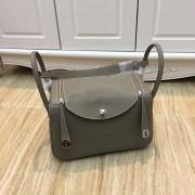 Hermes Lindy 30cm Handbag Grey Silver