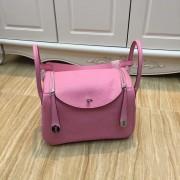 Hermes Lindy 30cm Handbag Pink Silver