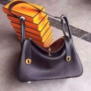 Hermes Lindy 30cm Handbag Black Gold