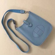 Hermes Mini Evelyne TPM Bag Grey Blue
