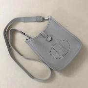 Hermes Mini Evelyne TPM Bag Light Grey