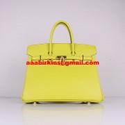 Hermes Birkin 30cm Togo Leather Handbags Lemon Yellow Golden