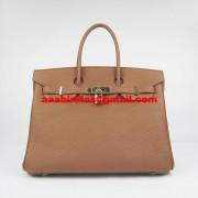 Hermes Birkin 30cm Togo Leather Handbags Light Coffee Gold