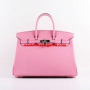 Hermes Birkin 35cm Togo leather Handbags Cherry Pink Silver
