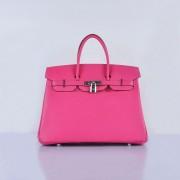 Hermes Birkin 35cm Togo leather Handbags Rose Silver