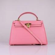 Hermes Kelly 32cm Togo leather 6108 cherry pink golden
