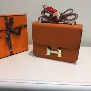 Hermes Constance Bag 23cm Epsom Leather Orange Gold