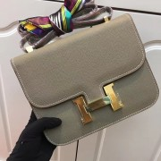 Hermes Constance Bag 23cm Epsom Leather Grey Gold