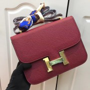 Hermes Constance Bag 23cm Epsom Leather Burgundy Gold