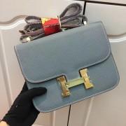 Hermes Constance Bag 23cm Epsom Leather Grey Blue Gold