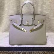 Hermes Birkin 30cm Togo leather Handbags elephant grey gold