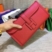 Hermes Epsom Leather Jige Clutch 29cm Red