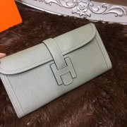 Hermes Epsom Leather Jige Clutch 29cm Grey