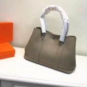 Hermes Garden Party Handbag Small 31cm Elephant Grey