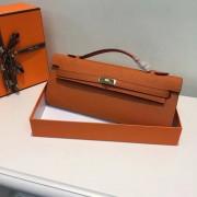 Hermes Kelly Cut 31cm Epsom Leather Clutch Orange