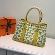Hermes Garden Party 36cm Canvas Handbag Yellow