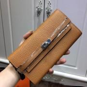 Hermes Kelly Wallet Togo Leather Camel