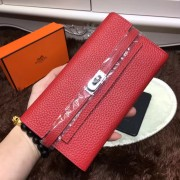 Hermes Kelly Wallet Togo Leather Red