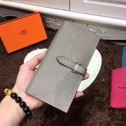 Hermes Bearn Wallet Togo Leather H005 Grey