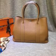 Hermes Garden Party Handbag Large 36cm Brown