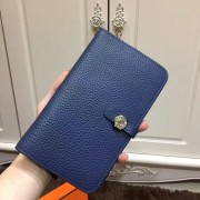 Hermes Dogon Wallet Togo Leather H001 Dark Blue