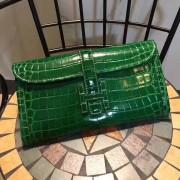 Hermes Jige Clutch 29cm Croco Green