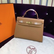 Hermes Kelly 32cm Epsom Leather Handbag brown gold