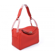 Hermes Lindy 26cm Red Silver