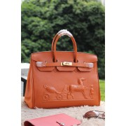 Hermes Birkin Horse Togo Leather Orange 35cm