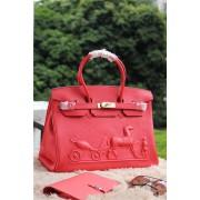 Hermes Birkin Horse Togo Leather Red 35cm